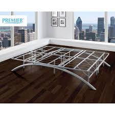 How To Make A Platform Bed With Legs by Premier Ellipse Arch Platform Bed Frame Brushed Silver Walmart Com