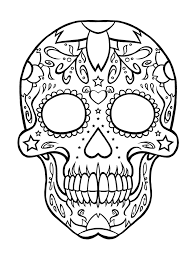 mexican coloring pages skull pattern for children download skull coloring pages at 736