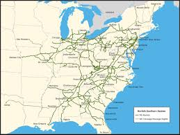 map of eastern usa and canada railroad freight locomotive engine emd ge boxcar bnsf csx
