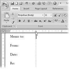 create memo template word 2010