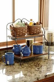 kitchen counter organizer ideas genial kitchen countertop storage ideas wooden tray to organize