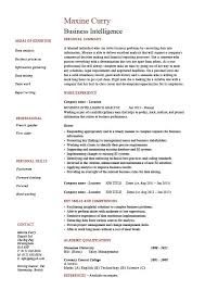 resume strategy business intelligence resume example sample template job