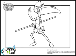phineas and ferb coloring pages minister coloring