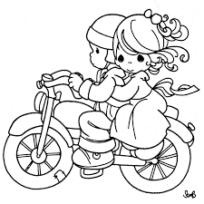 coloring pages couple motorcycle precious moments coloring