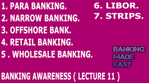 banking awareness important banking terminolgy lecture 11