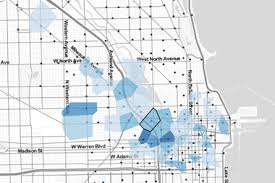 divvy chicago map divvy map shows how commutes vary in chicago s hoods the loop