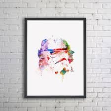 star wars art print watercolor painting wall art storm troopers