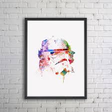 star wars nursery decor star wars art print watercolor painting wall art storm troopers