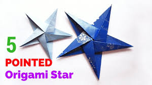 five u2013 5 pointed origami star how to make a origami five pointed