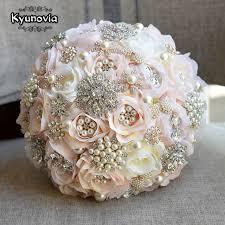 wedding bouquet kyunovia blush bouquet teardrop butterfly brooches bouquet