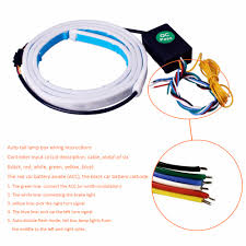 how to hook up led light strips in car 47inch car styling turn signal strip led trunk tailgate light