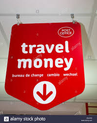bureau change post office travel sign bureau de change cambio wechsel stock