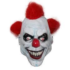 x merry toy killer clown mask mens latex u0026 red hair