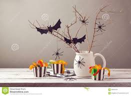 halloween party decorations with spiders stock photo image 58639731