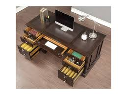 Desk With Charging Station Flexsteel Wynwood Collection Walnut Creek Executive Desk With