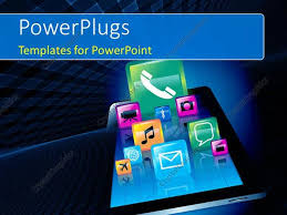 templates powerpoint crystalgraphics powerpoint template various icons like message video phone chat