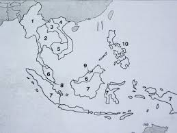South Asia Blank Map by Outline Map Of Southeast Asia With Blank With Quiz