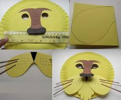 lion mask craft paper plate lion mask