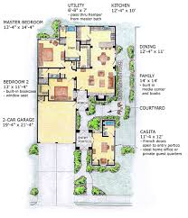 southwest floor plans house plan 56510 at familyhomeplans com