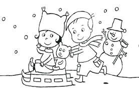 winter coloring pages disney house kids free printable