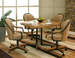 Dining Room Chairs With Casters And Arms Casual Dining Chairs With Casters Park 5 X Base Rectangular Dining