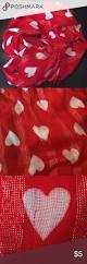 iridescent red white u0026 silver scarf worn 1x has a small snag see