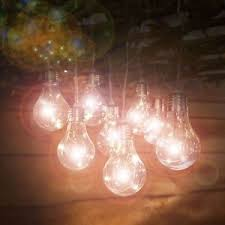solar powered outdoor light bulbs 10 solar powered warm white led light bulb string lights outdoor