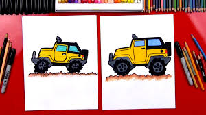 cartoon jeep side view how to draw a jeep art for kids hub