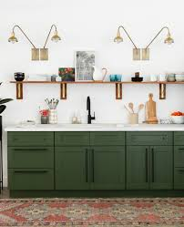 kitchens with shelves green 10 lovely kitchens with open shelving