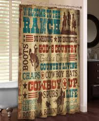 Western Curtain Rod Holders by Welcome To The Ranch Shower Curtain Western Shower Curtains The