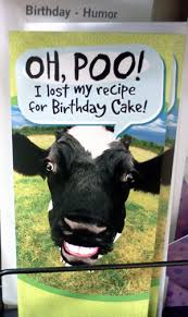 Cow Birthday Card It S Another Funny Yet Gross Cow Birthday Card Every Day I See