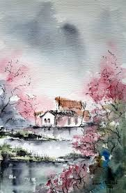 beautiful landscape mixed a must bear in mind possibilities of ink with water color chinese art anese landscape landscaping and