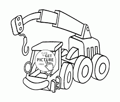crane truck coloring page for kids transportation coloring pages
