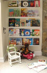 children u0027s reading nook great idea turn books front facing