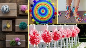 Flamingo Home Decor Diy Shabby Chic Style Pom Pom Decor Ideas 2017 I Home Decor