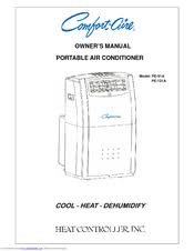 Comfort Air Portable Air Conditioner Comfort Aire Pe 121a Manuals