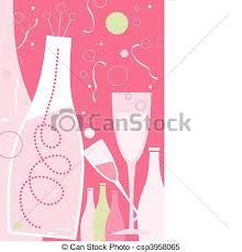 clipart vector of celebration in light pink theme new years