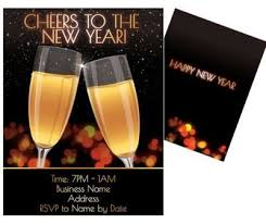 happy new year invitation black and gold cheers to the new year invitation