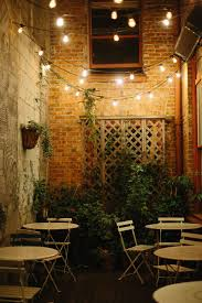 how to string cafe lights oddfellows in seattle seattle cafes and patios
