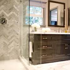 jeff lewis bathroom design chevron tile pattern use different colour tiles to a large