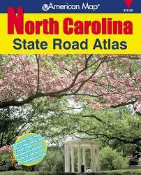 american map carolina state road atlas american map