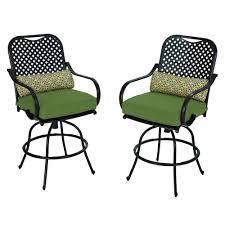 hampton bay green patio chairs patio furniture the home depot