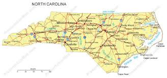 america map carolina carolina map