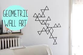 Mural Wall Art by Diy Geometric Wall Art With Washi Tape Decorazione Da Muro Con