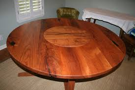 solid texas mesquite table with embedded lazy susan this is one
