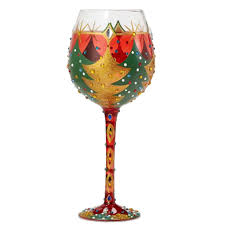 christmas glasses oh christmas tree bling wine glass by wine