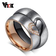 aliexpress buy vnox 2016 new wedding rings for women aliexpress buy vonx 1pair his hers heart wedding