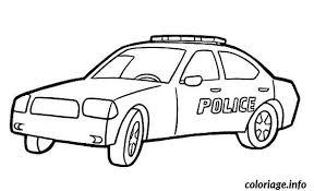 Coloriage Voiture Police dessin