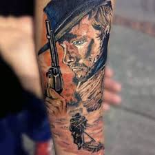 realistic western men with gun tattoo golfian com