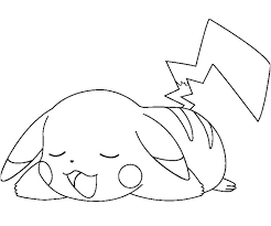 excellent charming ash and pikachu coloring pages print free